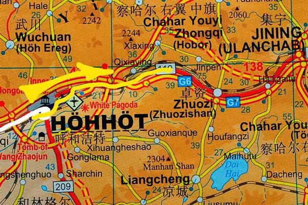 Tag 257: Hohhot 呼和浩特市 -  Sandao Ying 三道营