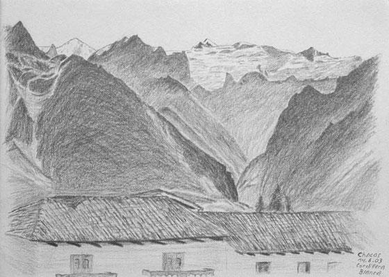 043.Skizze, Chacas, Cordillera Blanca /Peru