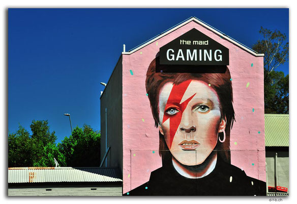 AU1084.Adelaide.Streetart.David Bowie as Ziggy Stardust