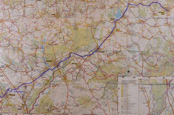 Karte Tag 7: Breclav - Uherský Brod