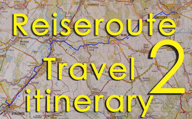 Solatrike Reiseroute 2 / Travel itinerary 2