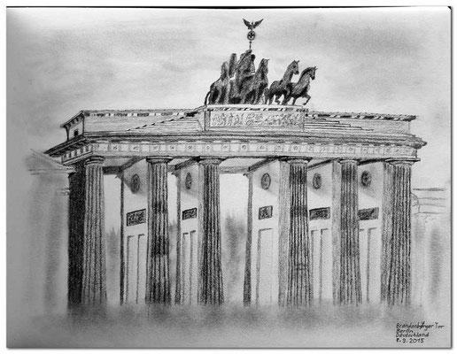 143.Skizze.Berlin.Brandenburger Tor.Deutschland