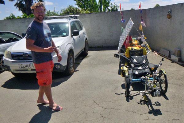 NZ: Solatrike in Christchurch bei Will