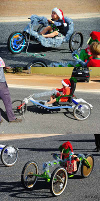 AU: Trikes in Cuffin Bay at the Christmas Peagant