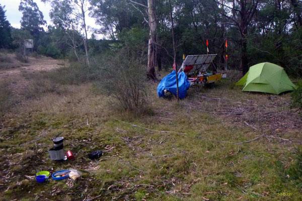 AU: Solatrike bei Wild Camping in Rockton