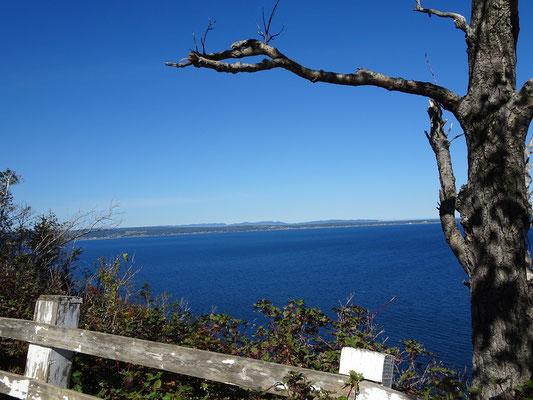 Urlaub in Quebec: Meerblick ausserhalb von Percé.