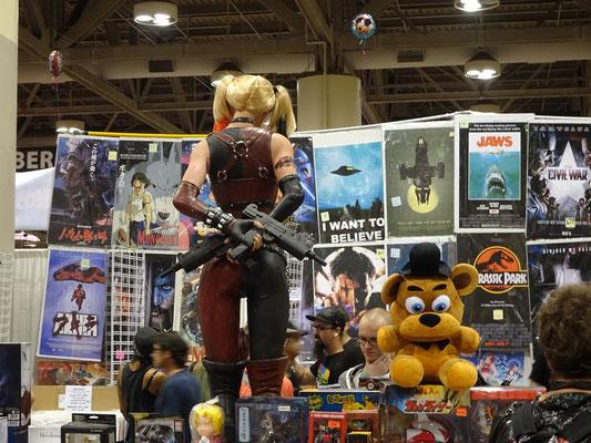 FanExpo 2016 in Toronto: Lebensgrosse Harley Quinn Figur.
