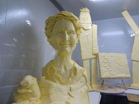 Butterskulptur auf der Canadian National Exhibition in Toronto: Ich habe unseren Premierminister Trudeau nicht sofort erkannt.