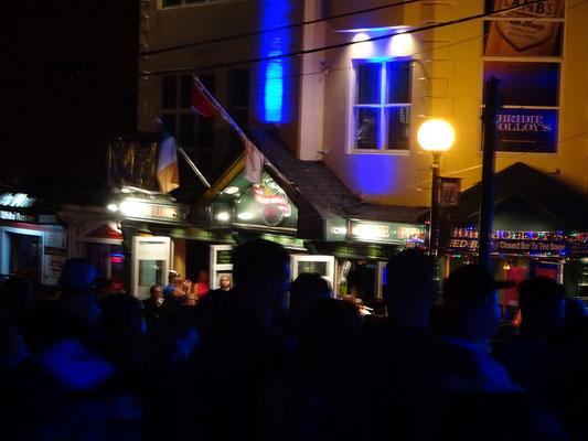 Urlaub in Neufundland: Es wird Nacht beim George Street Festival in St. John's.