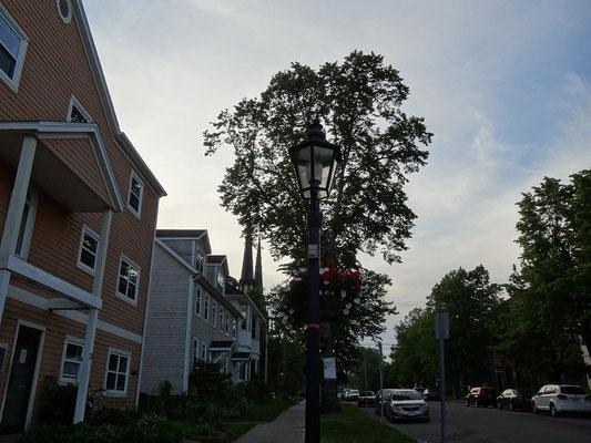 Ruhige Seitenstrasse in Charlottetown.