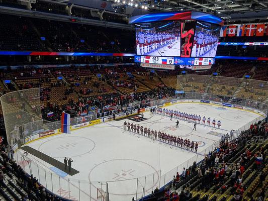 Eishockey Junioren-Weltmeisterschaft: An der Unterstützung der lettischen Fans lag es nicht, dass ihr Team mit 1:9 unter die Räder kam. Aber Hockey-Spiele werden nun mal auf dem Eis entschieden.