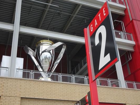 Überlebensgrosse Erinnerung am BMO-Field: Wer ist gleich noch mal amtierender Fussballmeister in Nordamerika? Ja richtig, Toronto FC!