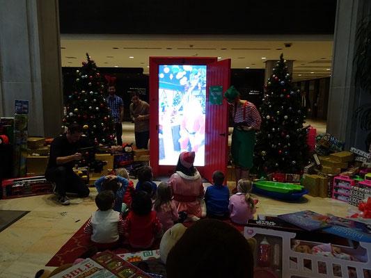 Weihnachten in Toronto: Live-Schaltung zum Weihnachtsmann.