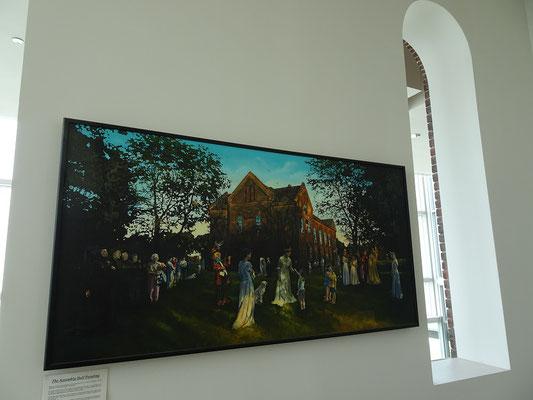 Die Assembly Hall auf dem Lakeshore Campus dient als Kunstgalerie und Veranstaltungszentrum.