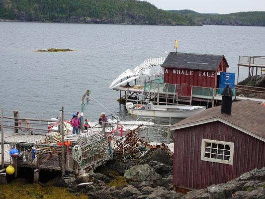 Blick auf das kleine Fischereimuseum Prime Berth vor den Toren von Twillingate.