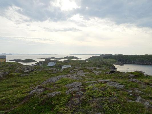 Abendstimmung mit Felsen auf Change Island.