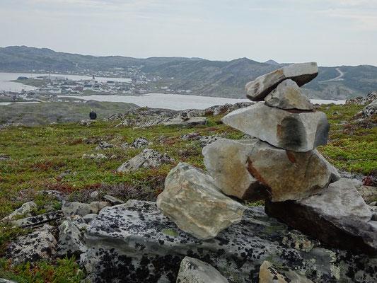 Kleiner Inuksuk am Brimstone Head auf Fogo Island.