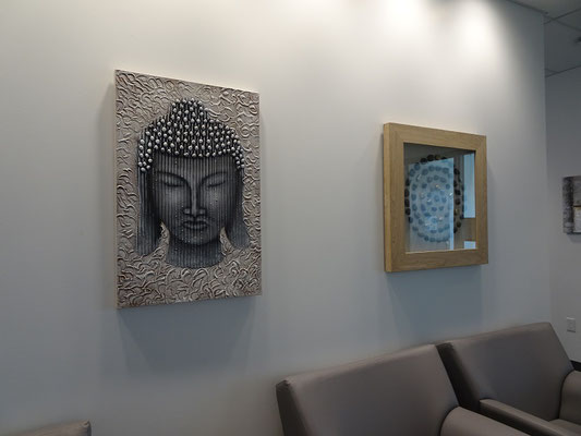 Kunst im Welcome Centre des Humber College Lakeshore Campus.