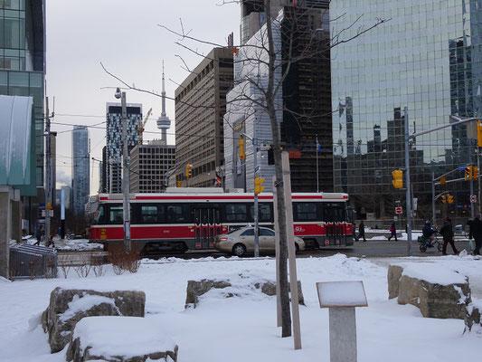 Winter in Toronto: Blick Richtung Innenstadt.
