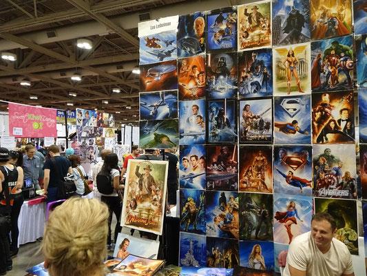 FanExpo 2016 in Toronto: Dieser Stand bietet Poster und Kunstdrucke zum Verkauf.