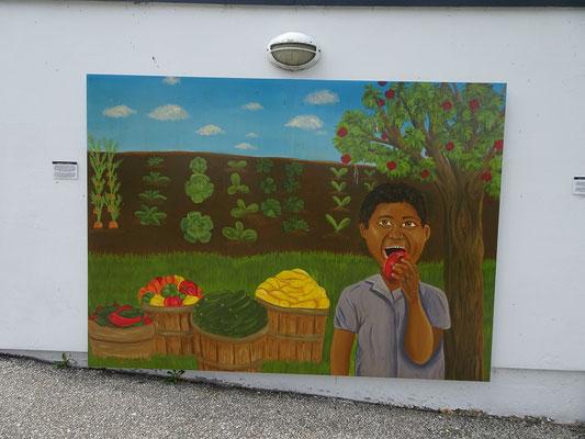 Spaziergang am Ontario Place: Etwas eigenwilliges Wandgemälde.