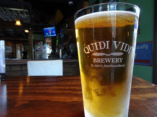 Urlaub in Neufundland: Zeit für Quidi Vidi, ein schmackhaftes lokales Gebräu.