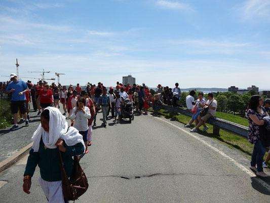 Und auf zum nächsten Programmpunkt. Dieses Bild stammt nicht von der Tour de France, sondern von der Zitadelle in Halifax.