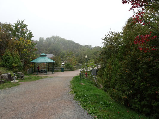 Urlaub in Quebec: Besuch im Parc des Chutes in Riviére-du-Loup.