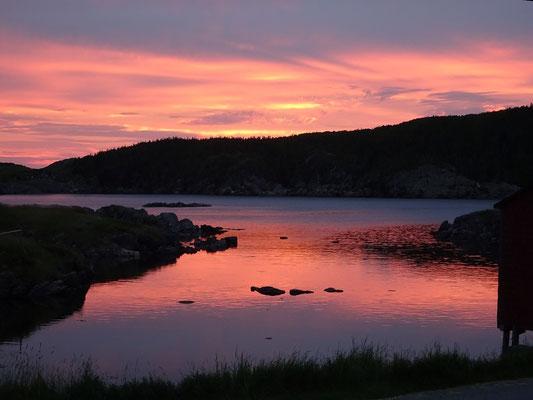 Sonnenuntergang auf Change Island.