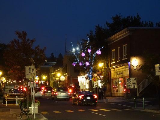 Urlaub in Quebec: Abend in der Innenstadt von Riviére-du-Loup.