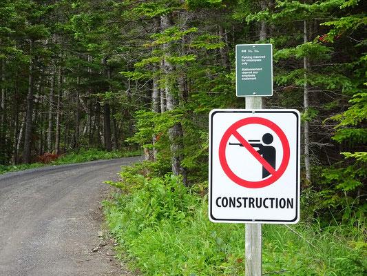 Schild am Campingplatz Berry Hill im Gros Morne Nationalpark.
