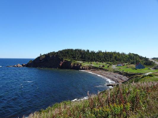 Urlaub in Quebec: Noch ein Meerblick von der Route 132 auf dem Weg nach Gaspé.