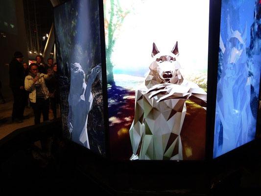 Nuit Blanche 2015 in Toronto: Diesen Wolf kann der Besucher animieren.