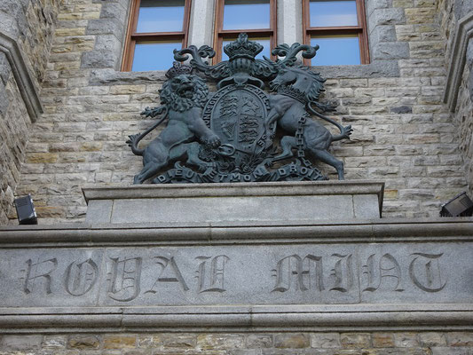 Urlaub in Ottawa: Eingang zur Royal Canadian Mint.