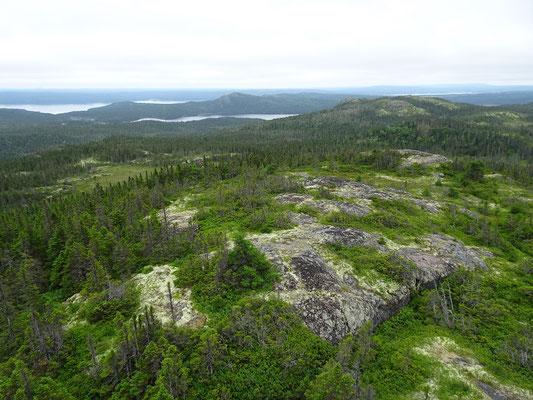 Unterwegs im Terra Nova Nationalpark: Ausblick vom Ochre Hill.