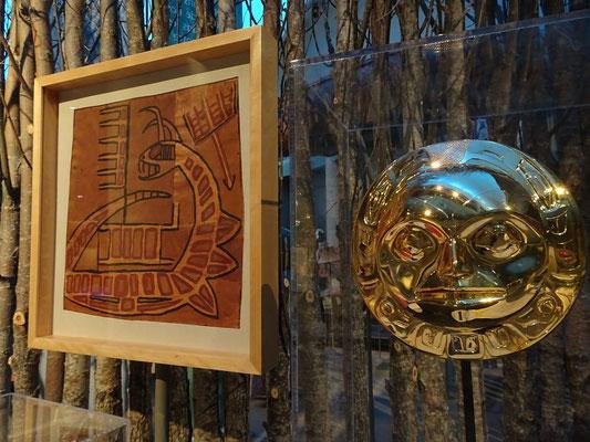Urlaub in Ottawa: Indianische Kunstgegenstände im Canadian Museum of History.