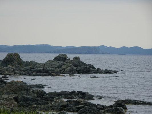 Urlaub in Neufundland: Felsen an der Küste nahe Twillingate.