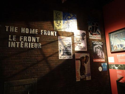 War Museum in Ottawa: Eine Ausstellung zur Heimatfront.