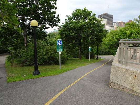 Besuch in Ottawa: Rad- und Wanderwege allerorten.