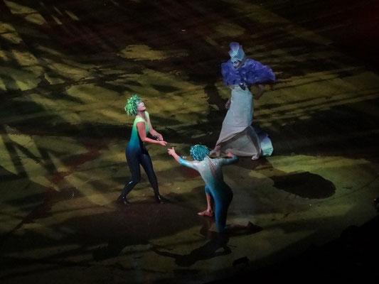 Jongleur(in) des Cirque du Soleil im Programm Varekai.
