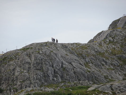 Urlaub in Neufundland: Auf Fogo Island kann man den Brimstone Head erklimmen. Aber gut festhalten, das ist schliesslich eines der Enden der Welt.