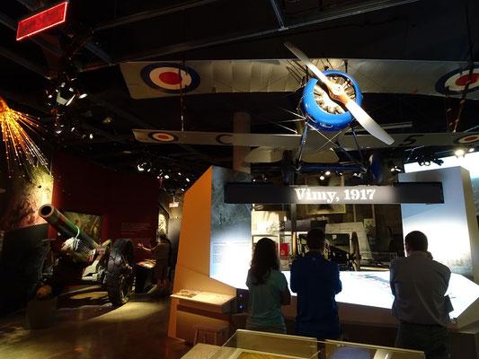 Kriegsmuseum in Ottawa: Vimy 1917 war für Kanada mehr als nur eine blutige Schlacht im I. Weltkrieg, sondern ein Meilenstein auf dem Weg zur einer eigenen Nation. Soldaten aus ganz Kanada erstürmten unter horrenden Verlusten eine wichtige Hügelkette.