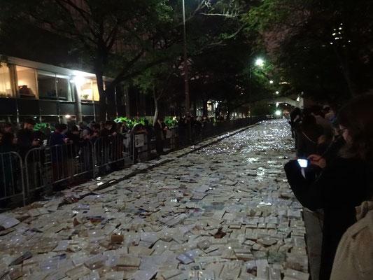 "Nuit Blanche 2016 in Toronto: Exponat ""Literature vs. Traffic."""