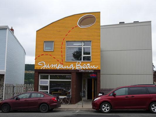 """Urlaub in Neufundland: Kleines Café in der Nähe des Museums """"The Rooms""""."""
