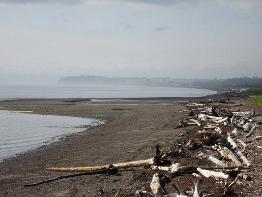 Urlaub in Quebec: Nahe der Gemeinde Maria führt die Route 132 kilometerlang schnurgerade am Strand entlang.