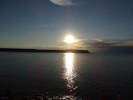 Sonnenuntergang in Nova Scotia: Abendstimmung in Cheticamp auf Cape Breton Island.