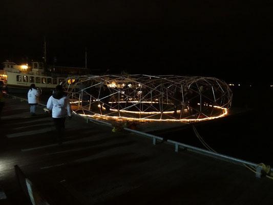 Interaktive Installation an Torontos Harbourfront bei der Nuit Blanche 2015.