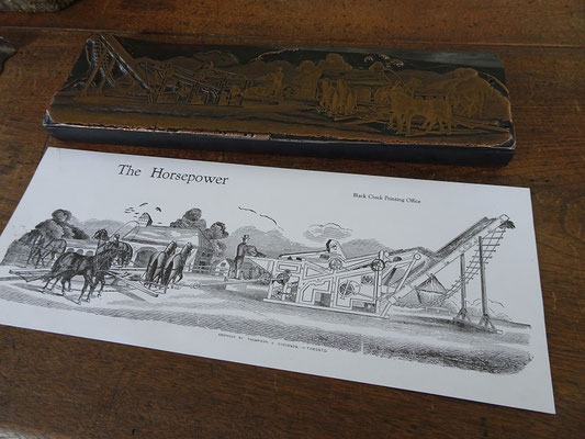 Black Creek Pioneer Village: Probedruck aus der Druckerei.