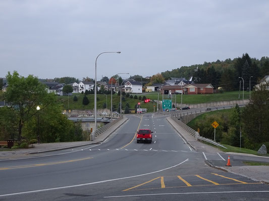Urlaub in New Brunswick: Brücke in Grand Falls.