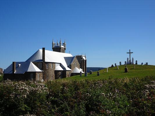 Urlaub in Quebec: Blick auf die Kirche in Percé.